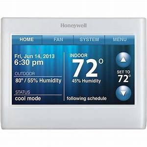 Honeywell - Smart Touchscreen Thermostat With Wi-fi Capability