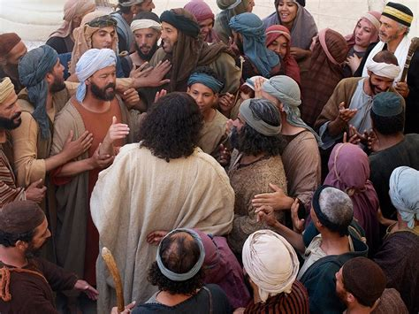 freebibleimages jesus forgives  heals  paralysed