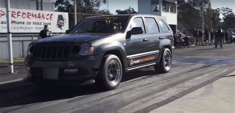 turbo jeep srt8 twin turbo jeep grand cherokee srt8 goes drag racing aims
