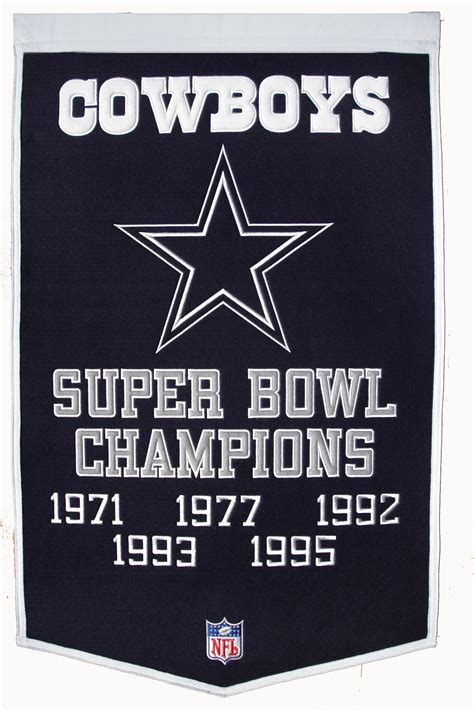 dallas cowboys super bowl champs banner gps sports gallery