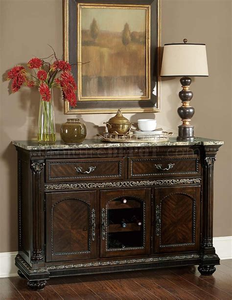 Russian Hill Upholstery by Russian Hill 1808 40 Server In Cherry By Homelegance