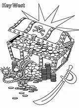 Treasure Coloring Pirate Chest Pages Box Cartoon Pirates Hunt Drawing Marks Printable Kindergarten Getdrawings Pdf sketch template
