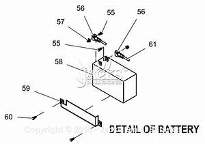 Generac 0059390  Gp5500  Parts Diagram For Battery Detail