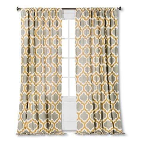gray linen curtains target threshold linen look fretwork curtain panel target