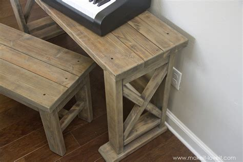 ana white keyboard stand  bench diy projects