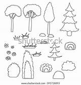 Shrubbery Template Coloring sketch template