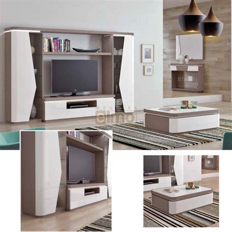 cuisine a prix d usine ensemble salon meuble tv contemporain bois et laque
