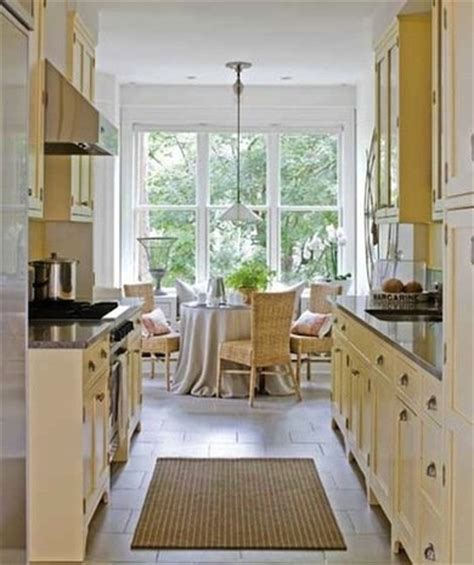 galley kitchen with breakfast nook galley kitchen design ideas 16 gorgeous spaces bob vila 6782