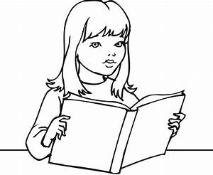 printable reading book coloring pages for girls and kids ...