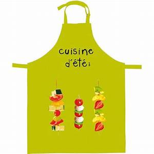 Cuisine D Ete : tablier de cuisine cuisine d 39 t vert anis ~ Melissatoandfro.com Idées de Décoration