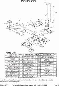Central Hydraulics 54877 Users Manual 34271 Floor Jack
