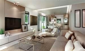 idee decoration salon ton neutre With idee de decoration salon