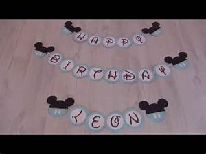 Mickey Mouse Geburtstag : leons 1 geburtstag baby micky maus party diy girlande youtube ~ Orissabook.com Haus und Dekorationen