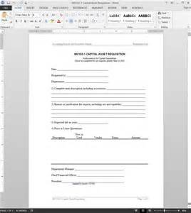 Asset Requisition Form Template