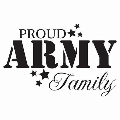 Army Proud Quotes Clipart Decal Wall Text