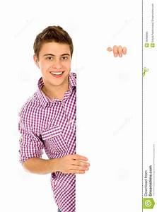 Man Holding Blank Poster Stock Photo - Image: 16499890