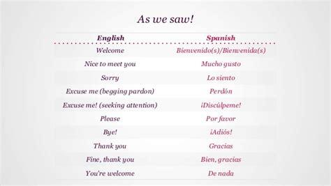 basic spanish lesson