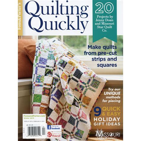 fons and porter quilting quickly quilting quickly bookazine winter 2013 fons porter