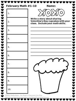 free february math daily morning work worksheets 3rd grade review homework