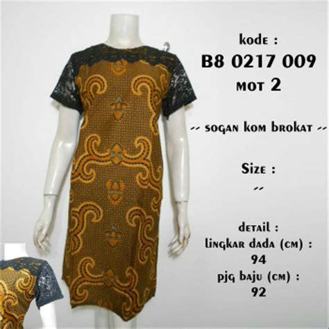 jual baju batik wanita dress kerja cewek batik kombinasi