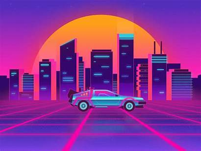 80s Retro Sunset Dribbble Neon 4k Wallpapers