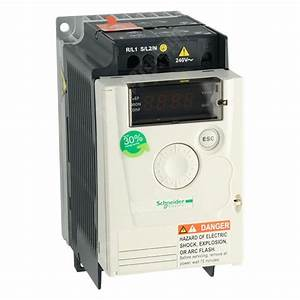 Schneider Atv12 Ip20 0 37kw 230v 1ph To 3ph Ac Inverter