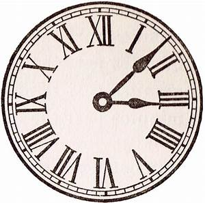 Antique Clock Face Graphics from School Book Knick of Time