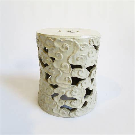 White Cloudy Stool - white ceramic cloud stool furniture design mix gallery