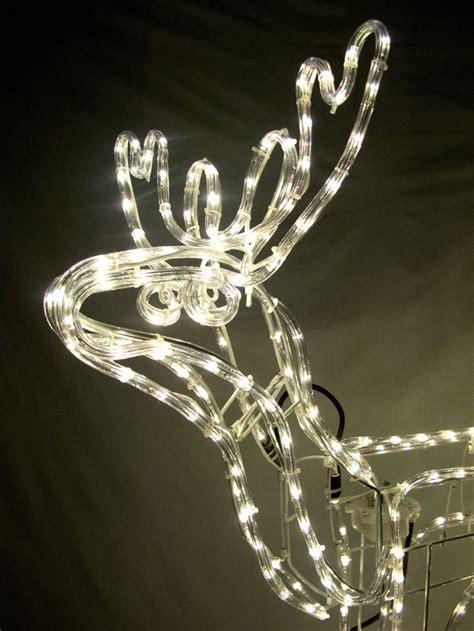 white led large 3d standing buck rope light 95cm