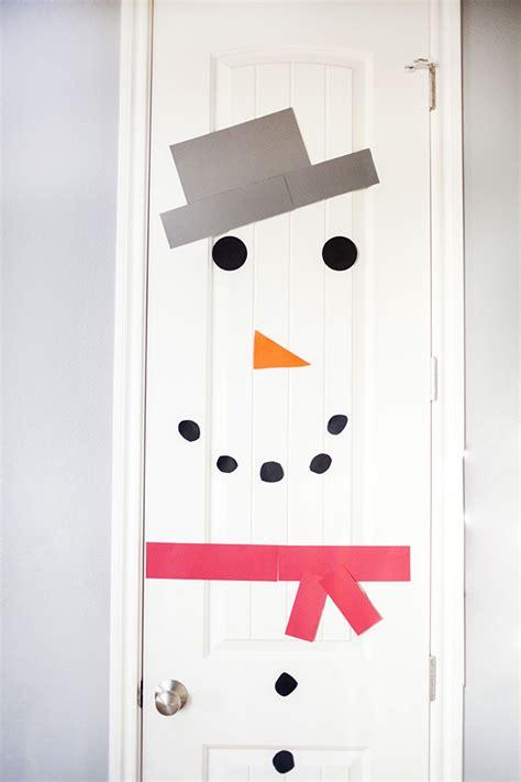 door craft snowman door craft gift idea sugar bee crafts