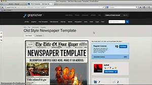 Adobe Indesign Newspaper Templates Free Newspaper Template For Adobe Indesign Cs6 Youtube