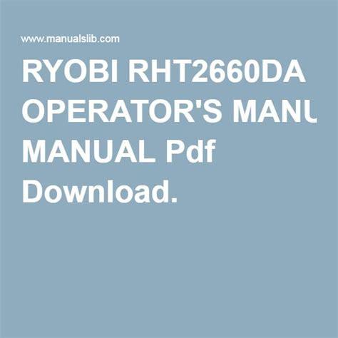 ryobi rhtda operators manual   garden