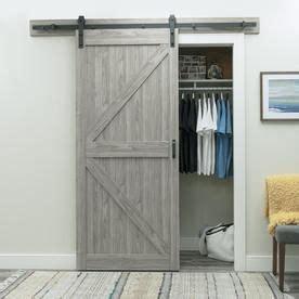 shop reliabilt gray soft close barn interior door common
