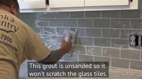 installing glass backsplash in kitchen how to install a glass subway tile backsplash in new 7544