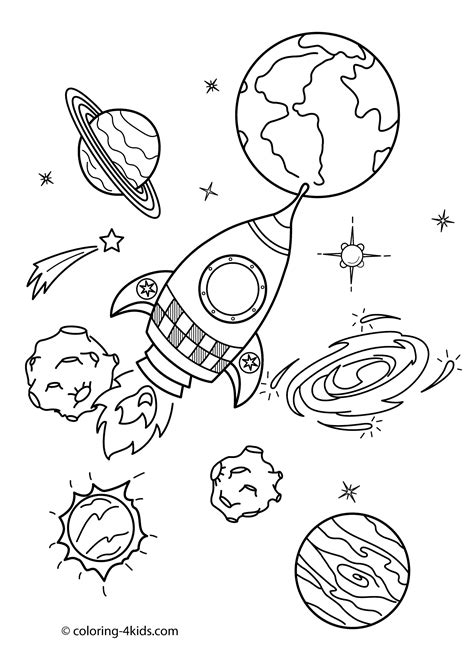 space coloring pages    print