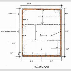 10×12 Storage Shed Building Plans & Blueprints With Gable Roof