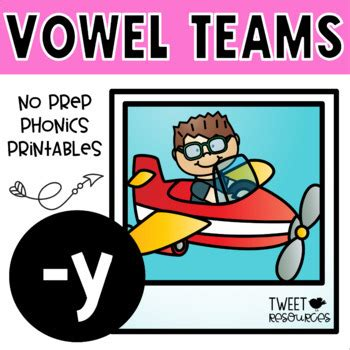 Long Vowels (y) No Prep Phonics Printables By Tweet Resources Tpt