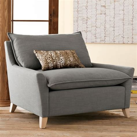 bliss down filled chair and a half west elm
