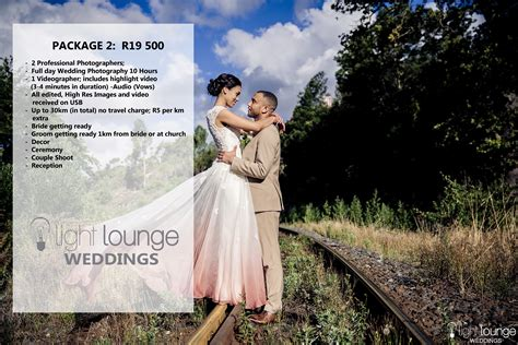 package  ll weddings light lounge studio cape town