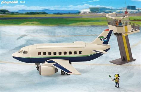 Playmobil Cargo And Passenger Aircraft With Tower 5261