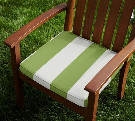 outdoor piped dining chair cushion striped sunbrella