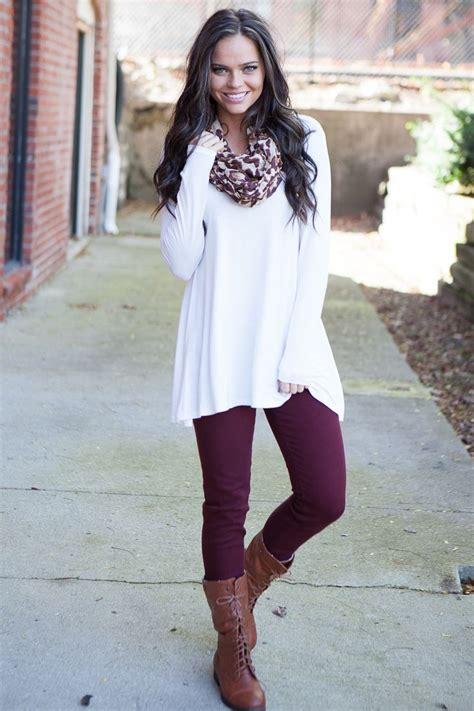 Magnolia Boutique Indianapolis - Solid Long Sleeve Tunic - Ivory $24.00 (http//www ...