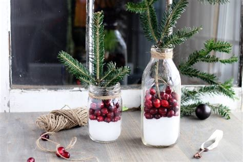 How To Make Rustic Decorations - how to make cranberry rustic decor in 5 minutes