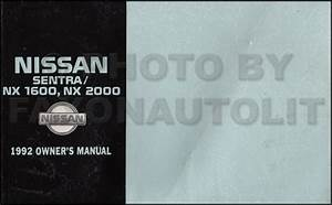 1992 Nissan Sentra  U0026 Nx 1600  2000 Wiring Diagram Manual