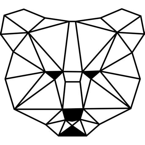 stickers pour bureau sticker tête d 39 ours en forme géométrique