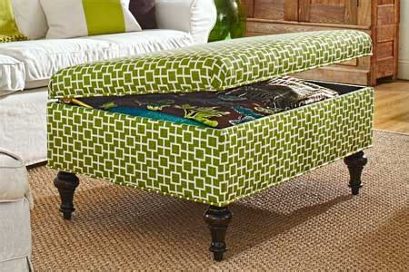 how to upholster an ottoman how to build a storage ottoman this old house