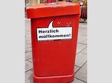 Sprüche auf Hamburger Mülltonnen