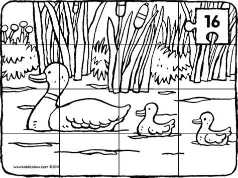 Kleurplaat Eendjes In Het Water by Lente Kleurprenten Kiddikleurprenten