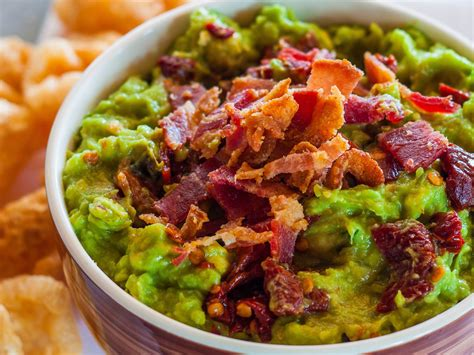 dips cuisine smoky chipotle and bacon guacamole recipe emily farris