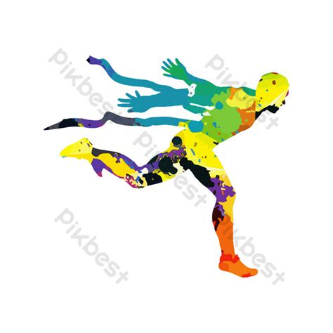 sports people color silhouettes png images cdr